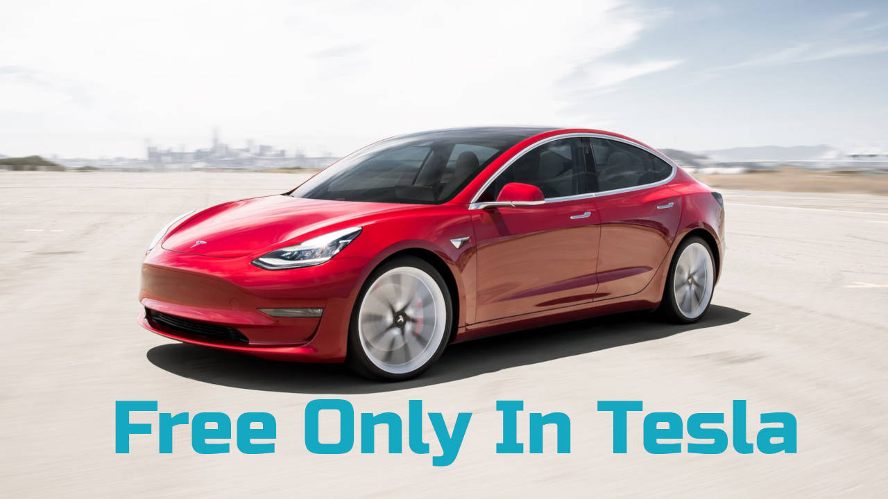 Porsche Taycan vs. Tesla - free only in Tesla vehicle.